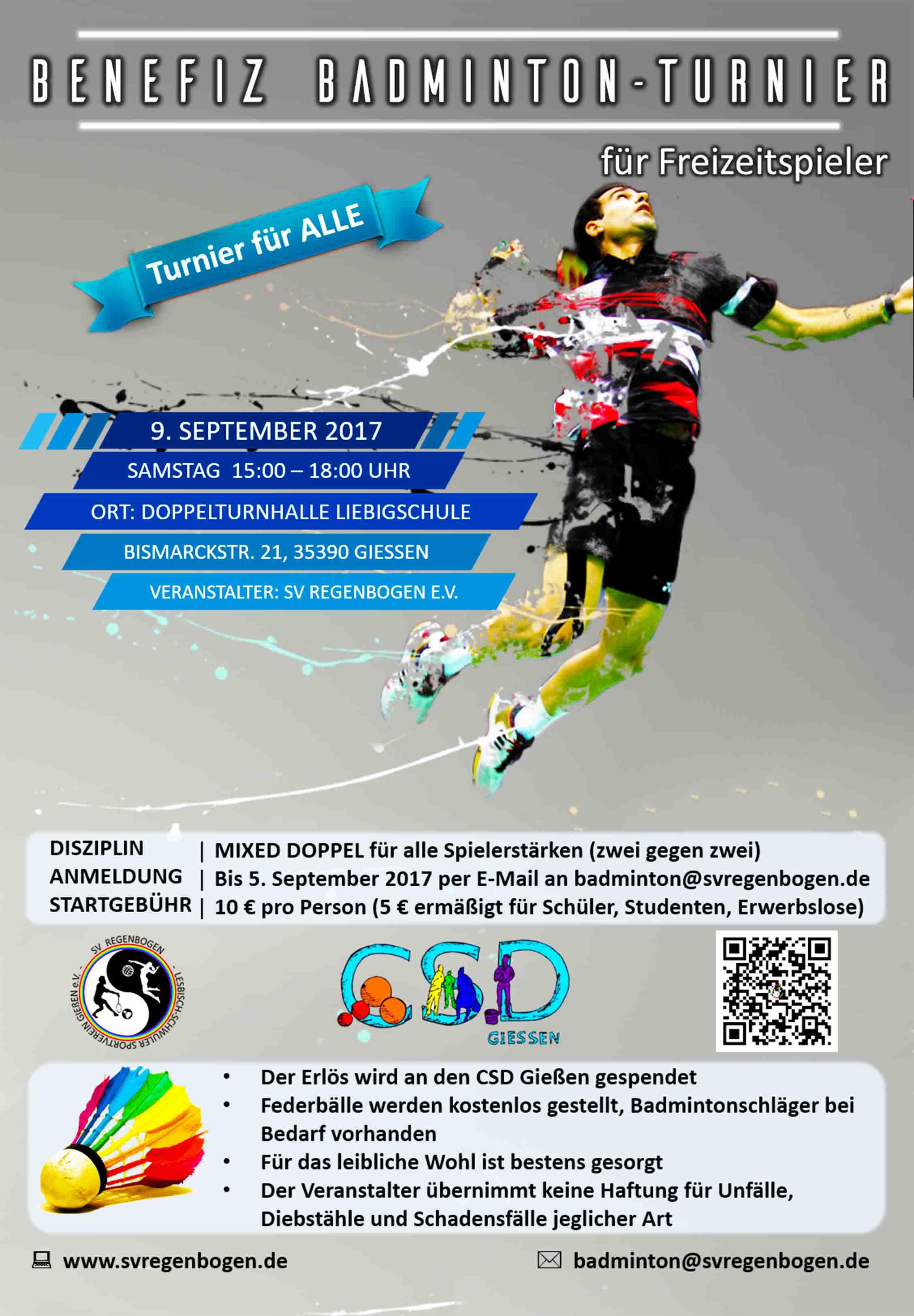 CSD Benefiz Badminton-Turnier @ Giessen | Hesse | Germany