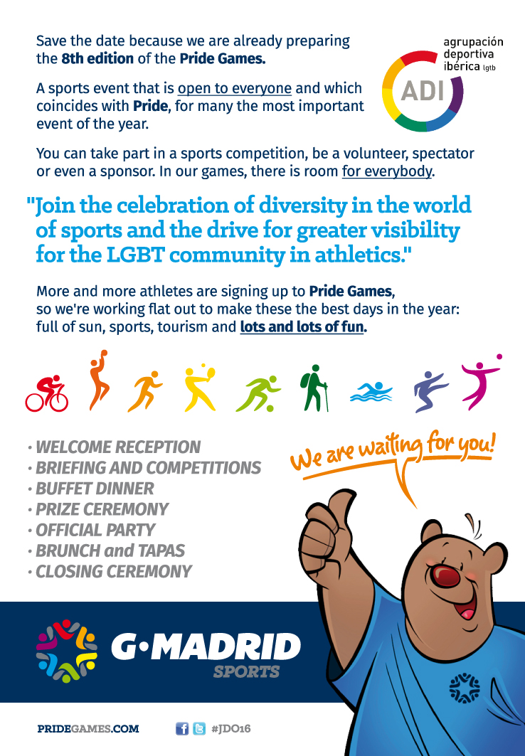 PRIDE GAMES - JUEGOS DEL ORGULLO @ Madrid | Community of Madrid | Spain