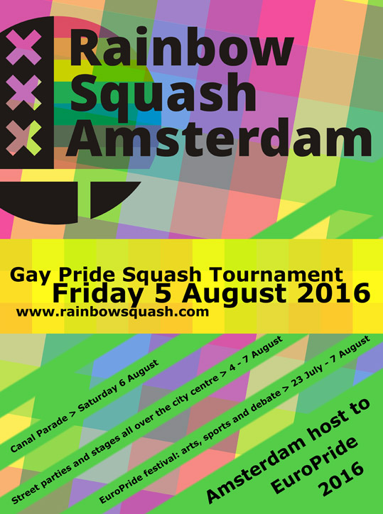 Gay Pride Squash Tournament @ Amsterdam | North Holland | Netherlands
