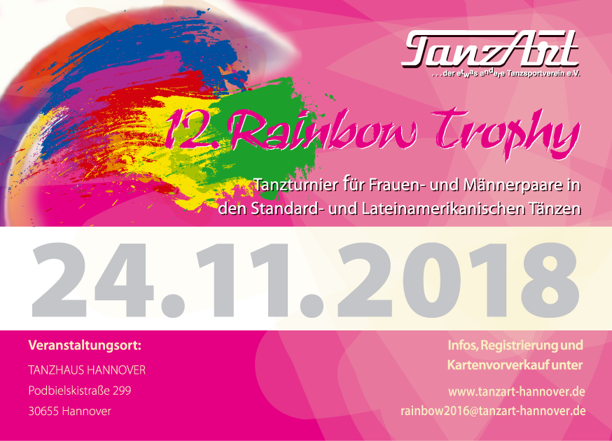 12th Rainbow Trophy 2018 @ Podbielskistraße 299B | Hanover | Lower Saxony | Germany