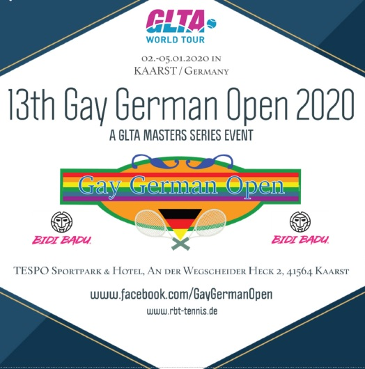 13th Gay German Open 2020 - A GLTA Masters Series Event