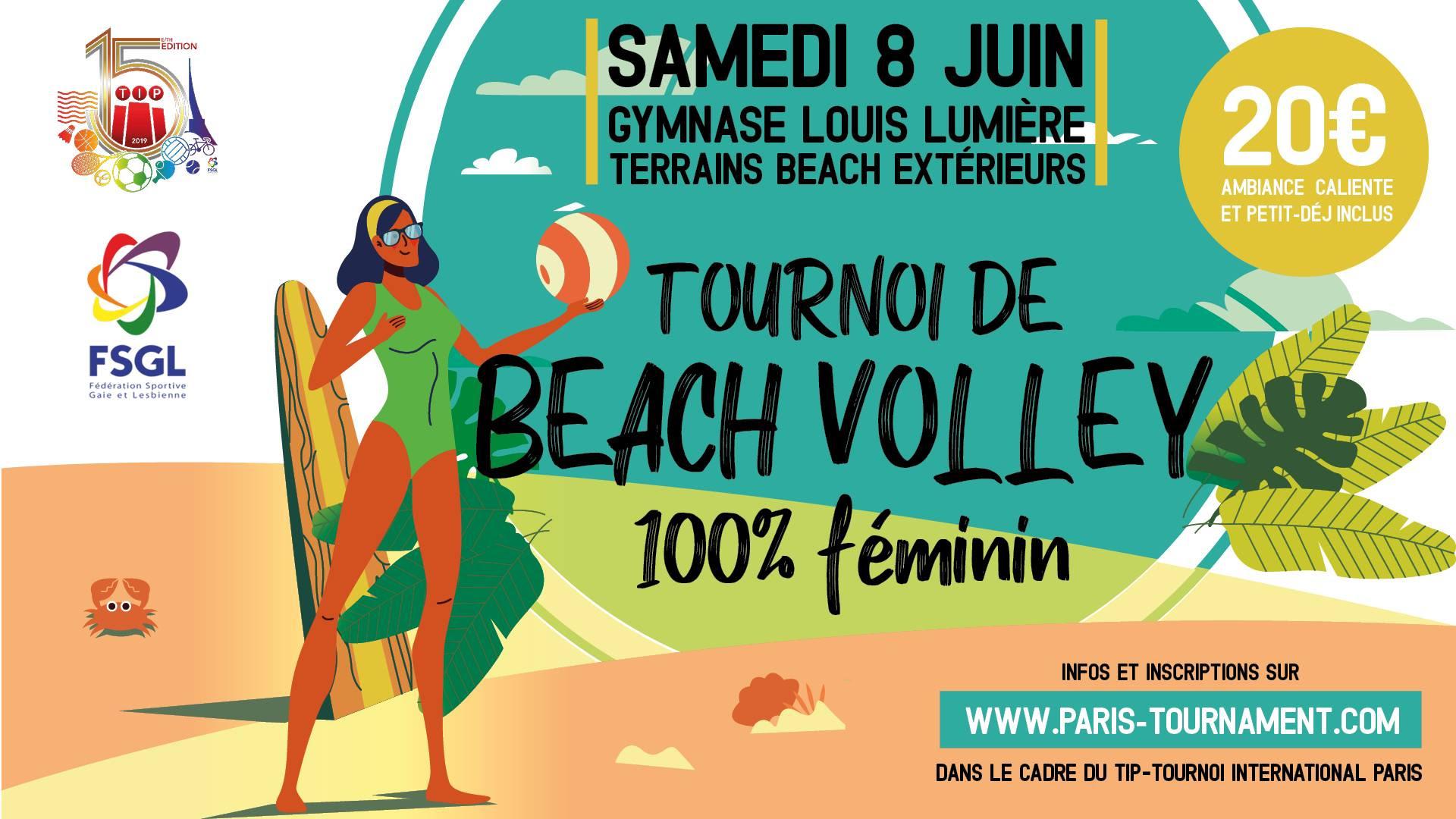 Ladies only beach volleyball tournament in Paris